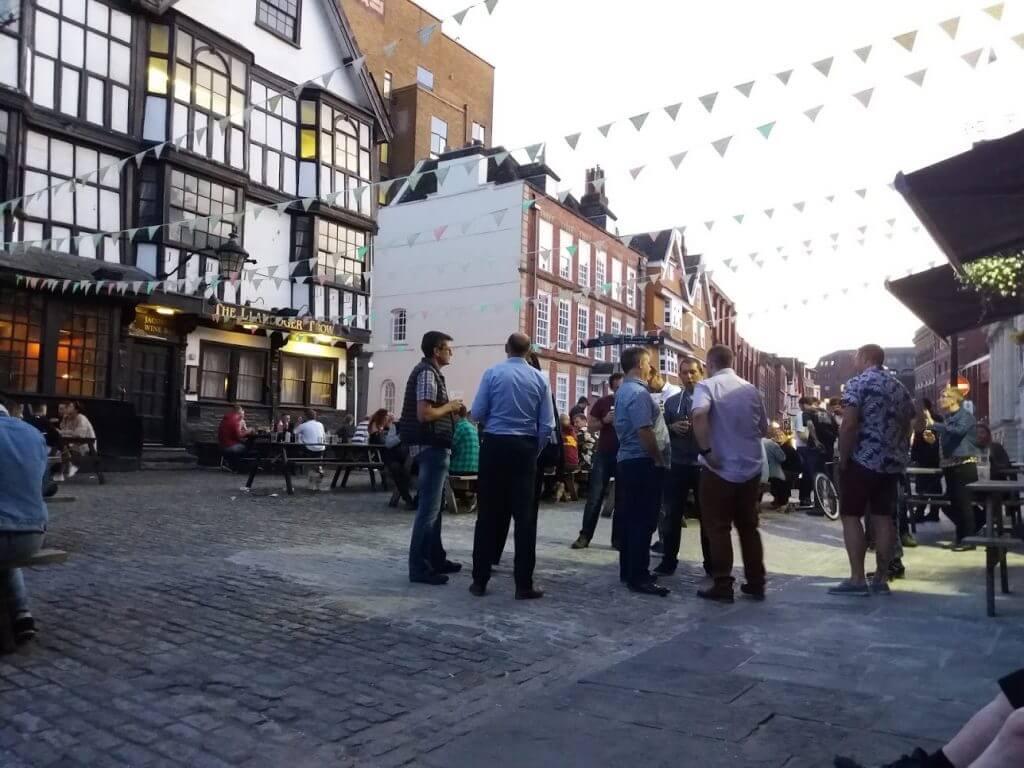 Visiting Kings Street llandoger Trow & Old Duke Bristol